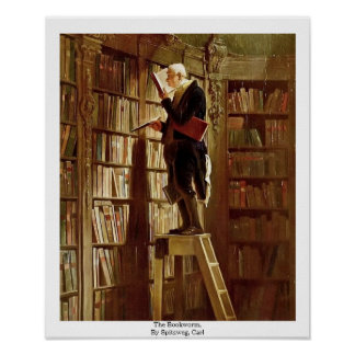 The Bookworm,  By Spitzweg, Carl Posters