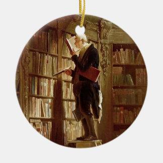 The Bookworm Ceramic Ornament