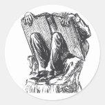 The Bookworm Classic Round Sticker