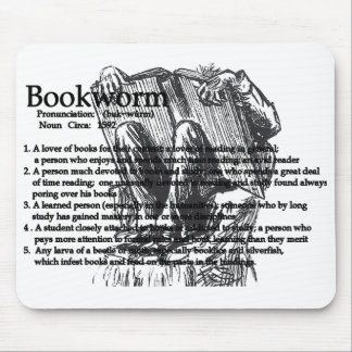 The Bookworm Mouse Pad