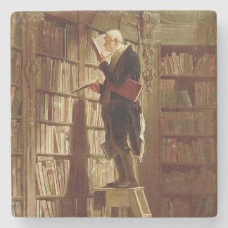 The Bookworm Stone Coaster