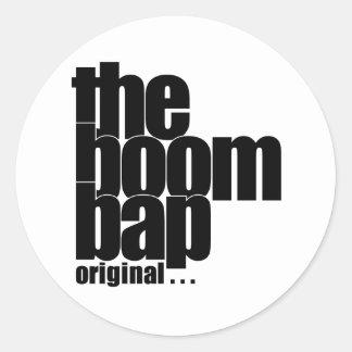 The Boom Bap circular sticker