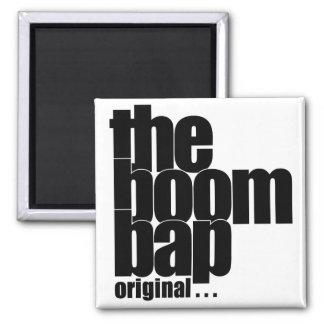 The Boom Bap square magnet