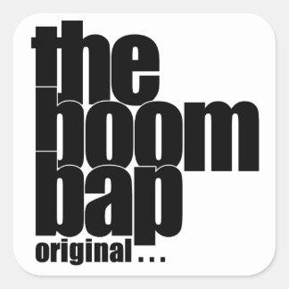 The Boom Bap square sticker