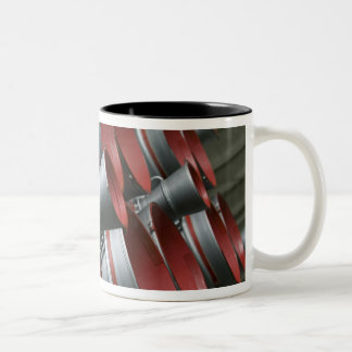 The boosters of the Soyuz TMA-14 spacecraft 3 Two-Tone Coffee Mug