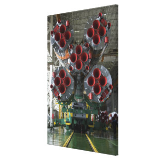 The boosters of the Soyuz TMA-14 spacecraft Stretched Canvas Print