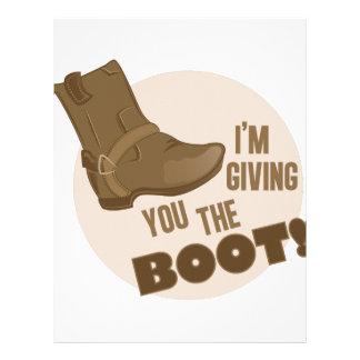 The Boot Letterhead