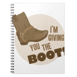The Boot Spiral Notebook