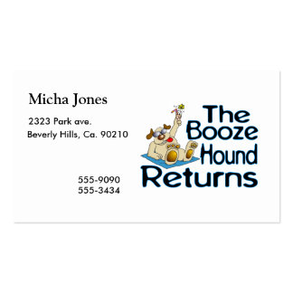 The Booze Hound Returns Business Card