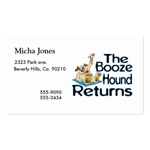 The Booze Hound Returns Business Card