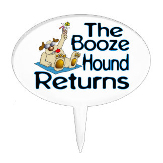 The Booze Hound Returns Cake Topper