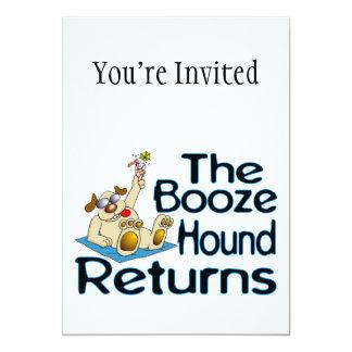 The Booze Hound Returns 5x7 Paper Invitation Card