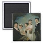 The Boratynsky Family, 1816 2 Inch Square Magnet