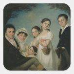 The Boratynsky Family, 1816 Square Sticker