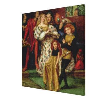 The Borgia Family, 1863 Canvas Print