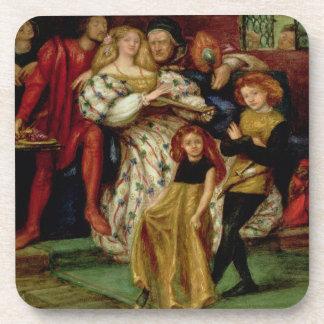 The Borgia Family, 1863 Beverage Coaster