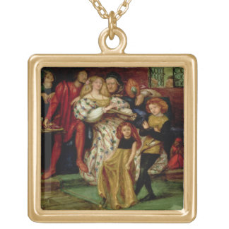 The Borgia Family, 1863 Gold Plated Necklace