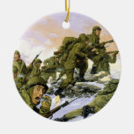 The Borinqueneers by Dominic D'Andrea Christmas Tree Ornament