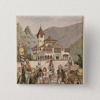 The Bosnian Pavilion at the Universal Exhibition Pinback Button