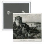 The Bosphorus, Constantinople 2 Inch Square Button