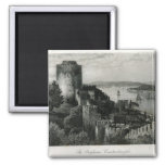 The Bosphorus, Constantinople 2 Inch Square Magnet