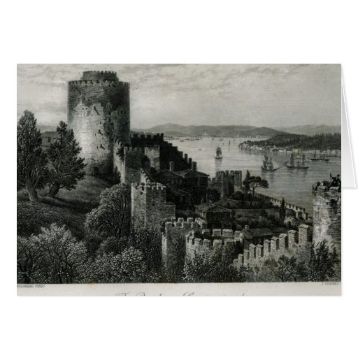 The Bosphorus, Constantinople Greeting Cards