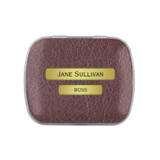 The Boss - A Brass Name Plate Effect Candy Tin at Zazzle
