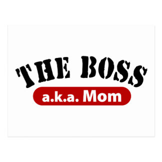 The Boss a.k.a. Mom Postcard