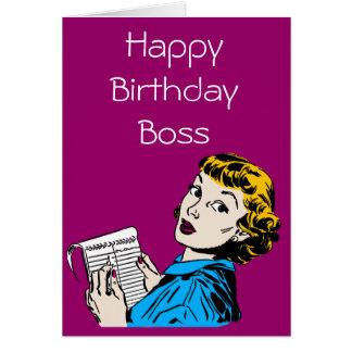 The Boss Customisable Birthday Card