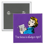 The Boss Customisable Pin