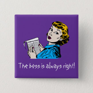 The Boss Customisable Pinback Button
