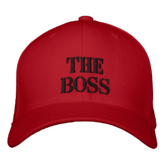 THE BOSS EMBROIDERED BASEBALL CAP