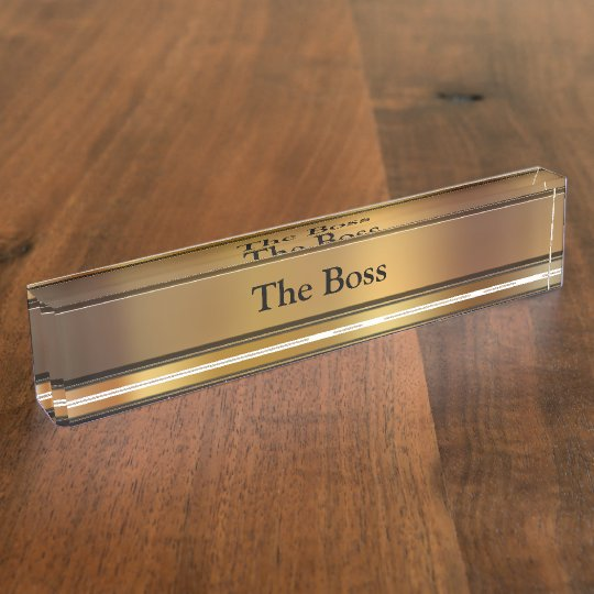 The Boss Executive Desk Name Plates Zazzle Com