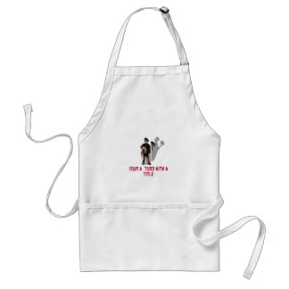 THE BOSS IS ! ADULT APRON
