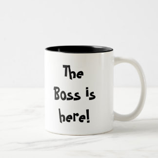 The Boss is here!, Hurry!, Hide the Mug! Two-Tone Coffee Mug