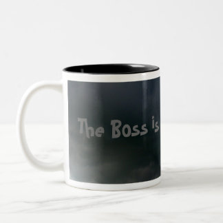 The Boss is in a BAD mood! Two-Tone Coffee Mug