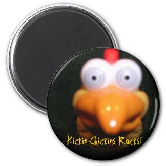 The Boss, Kickin Chickins Rocks! 2 Inch Round Magnet