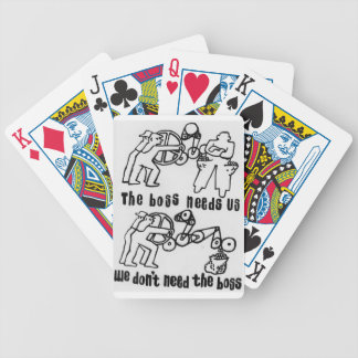 the boss needs us we don't need the boss bicycle playing cards