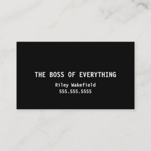 Funny Boss Business Cards Zazzle