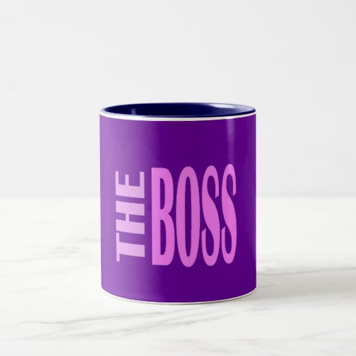 THE BOSS PINKY Two-Tone COFFEE MUG