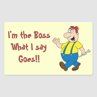 The Boss Rectangle Stickers Template
