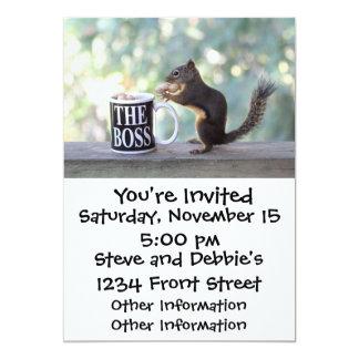 The Boss Squirrel 5x7 Paper Invitation Card