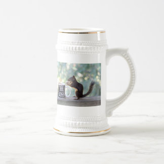 The Boss Squirrel Beer Stein