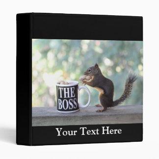 The Boss Squirrel Vinyl Binders