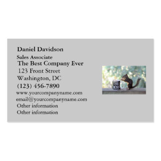 The Boss Squirrel Business Card