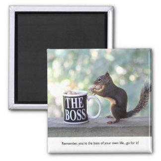 """The Boss"" Squirrel Fridge Magnet"