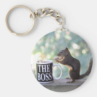 The Boss Squirrel Keychains