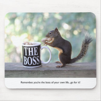 """The Boss"" Squirrel Mouse Pad"