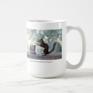 """The Boss"" Squirrel Classic White Coffee Mug"