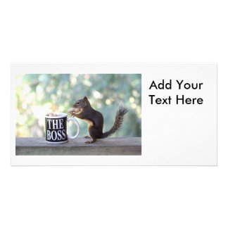 """The Boss"" Squirrel Photo Greeting Card"